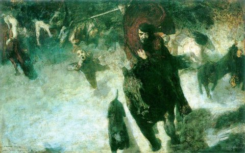 wild hunt by franz von stuck 1889